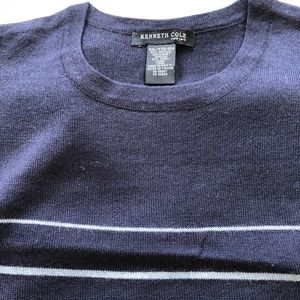 Kenneth Cole Round Neck Multishades of blueXL